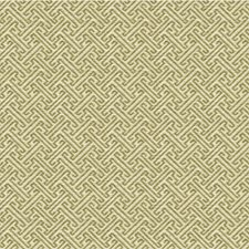 Beige/Celery Asian Drapery and Upholstery Fabric by Kravet
