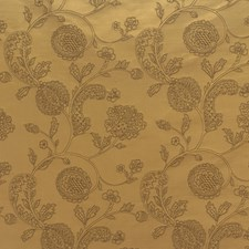 Yellow/Brown Botanical Drapery and Upholstery Fabric by Kravet