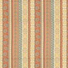 Beige/Blue/Burgundy Liseres Drapery and Upholstery Fabric by Kravet