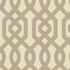 Beige/White/Grey Lattice Drapery and Upholstery Fabric by Kravet