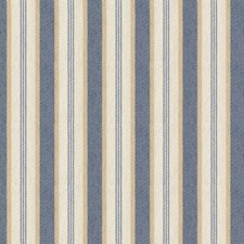 White/Blue/Yellow Stripes Drapery and Upholstery Fabric by Kravet