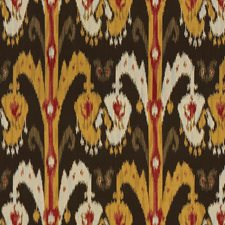 Brown/Yellow/Burgundy Ethnic Drapery and Upholstery Fabric by Kravet