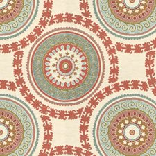 White/Blue/Pink Medallion Drapery and Upholstery Fabric by Kravet