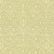 Blue/Green/Beige Damask Drapery and Upholstery Fabric by Kravet