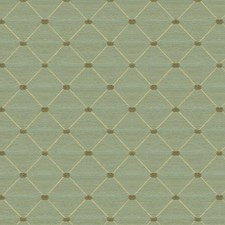Green/Beige/Brown Diamond Drapery and Upholstery Fabric by Kravet