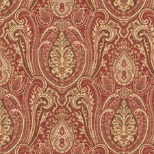 Burgundy/Red/Yellow Ethnic Drapery and Upholstery Fabric by Kravet