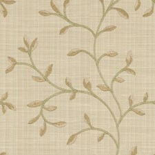 Beige/Brown/Green Botanical Drapery and Upholstery Fabric by Kravet