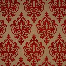 Raspberry Damask Drapery and Upholstery Fabric by Fabricut