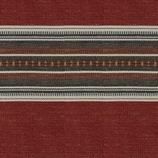 Sundried Red Stripes Drapery and Upholstery Fabric by Kravet