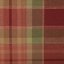 Red/Green Plaid Drapery and Upholstery Fabric by Duralee