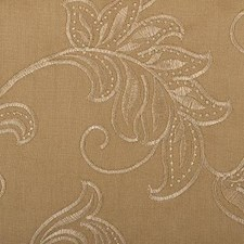 Brown Sugar Embroidery Drapery and Upholstery Fabric by Duralee
