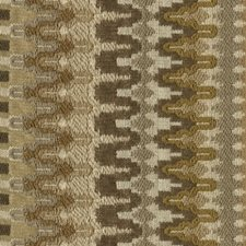 Beige/Yellow/Brown Ikat Drapery and Upholstery Fabric by Kravet