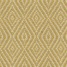 Yellow/Beige Diamond Drapery and Upholstery Fabric by Kravet
