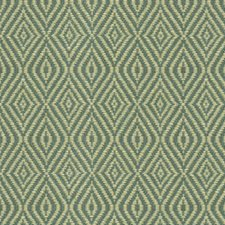 Blue/Beige Diamond Drapery and Upholstery Fabric by Kravet