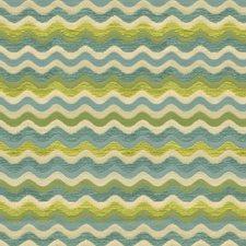 White/Light Blue/Green Modern Drapery and Upholstery Fabric by Kravet