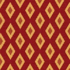 Burgundy/Red/Yellow Diamond Drapery and Upholstery Fabric by Kravet