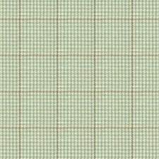 White/Light Blue/Brown Check Drapery and Upholstery Fabric by Kravet