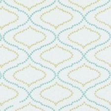 Sea Green Embroidery Drapery and Upholstery Fabric by Duralee