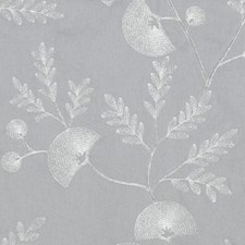 Silver Embroidery Drapery and Upholstery Fabric by Duralee