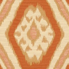 Coral Ethnic Drapery and Upholstery Fabric by Kravet