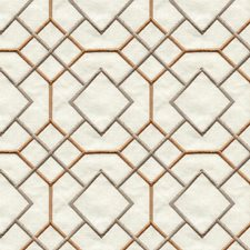 Terracotta Geometric Drapery and Upholstery Fabric by Kravet