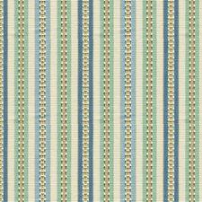 Ivory/Spa/Indigo Stripes Drapery and Upholstery Fabric by Kravet