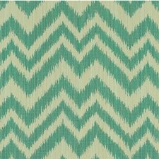 Beige/Teal/Light Blue Flamestitch Drapery and Upholstery Fabric by Kravet