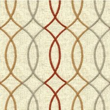 Ivory/Rust/Taupe Modern Drapery and Upholstery Fabric by Kravet