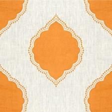 Orange/Ivory Medallion Drapery and Upholstery Fabric by Kravet