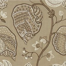 Smoked Pearl Botanical Drapery and Upholstery Fabric by Kravet