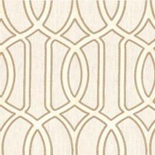 Ivory/Taupe/White Lattice Drapery and Upholstery Fabric by Kravet