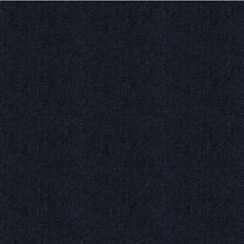 Dark Blue Herringbone Drapery and Upholstery Fabric by Kravet