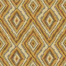 Beige/Gold/Brown Diamond Drapery and Upholstery Fabric by Kravet