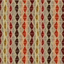 Red/Brown/Gold Diamond Drapery and Upholstery Fabric by Kravet