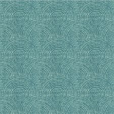 Turquoise Geometric Drapery and Upholstery Fabric by Kravet