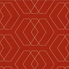 Tomato Diamond Drapery and Upholstery Fabric by Kravet
