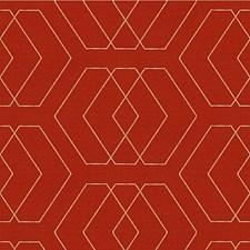 Tomato Diamond Drapery and Upholstery Fabric by Kravet