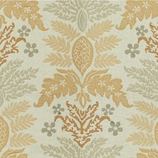 Pebble Botanical Drapery and Upholstery Fabric by Kravet