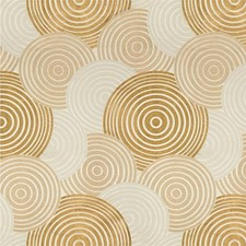 Gold/Beige Contemporary Drapery and Upholstery Fabric by Kravet