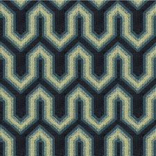 Dark Blue/Light Blue/Beige Modern Drapery and Upholstery Fabric by Kravet