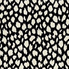 Black Animal Skins Drapery and Upholstery Fabric by Kravet