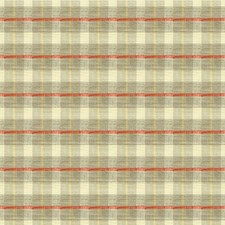 Grey/Beige/Red Plaid Drapery and Upholstery Fabric by Kravet