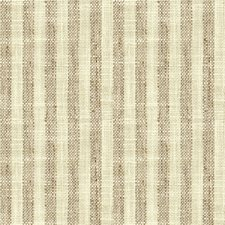 Taupe/Ivory Stripes Drapery and Upholstery Fabric by Kravet