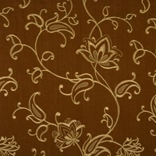 Chocolate Embroidery Drapery and Upholstery Fabric by Fabricut
