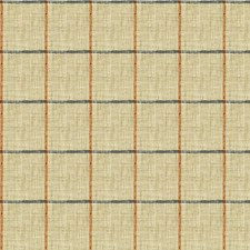 Blue/Beige/Rust Check Drapery and Upholstery Fabric by Kravet