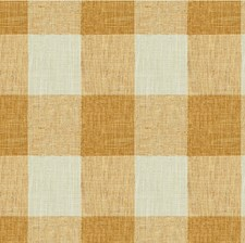 Gold/Beige Check Drapery and Upholstery Fabric by Kravet