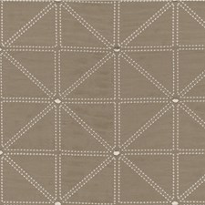 Taupe/Silver/White Geometric Drapery and Upholstery Fabric by Kravet