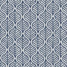 Blue/Beige Botanical Drapery and Upholstery Fabric by Kravet