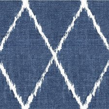 Blue/Ivory Diamond Drapery and Upholstery Fabric by Kravet