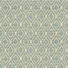 Light Blue/Ivory Diamond Drapery and Upholstery Fabric by Kravet